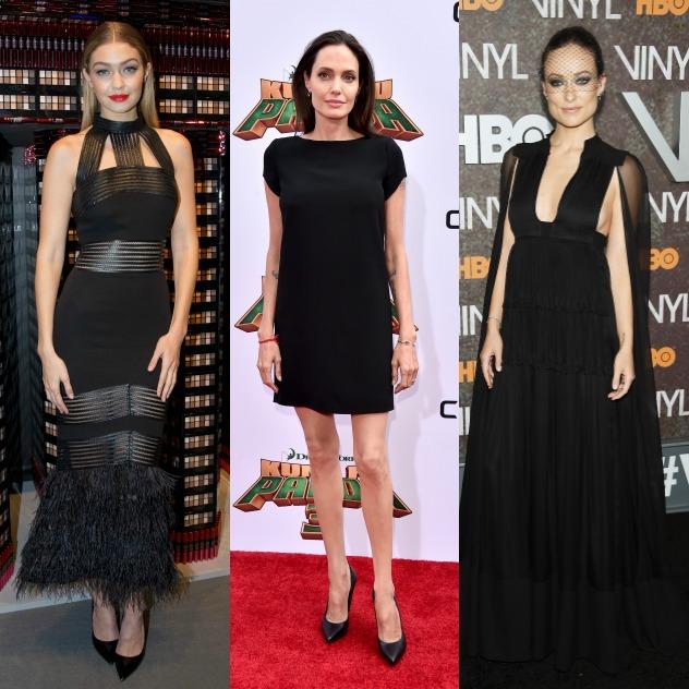 אוליביה ווילד, אנג'לינה ג'ולי וג'יג'י חדיד. המתלבשות הטובות והרעות של השבוע (צילום: גטי אימג'ס)