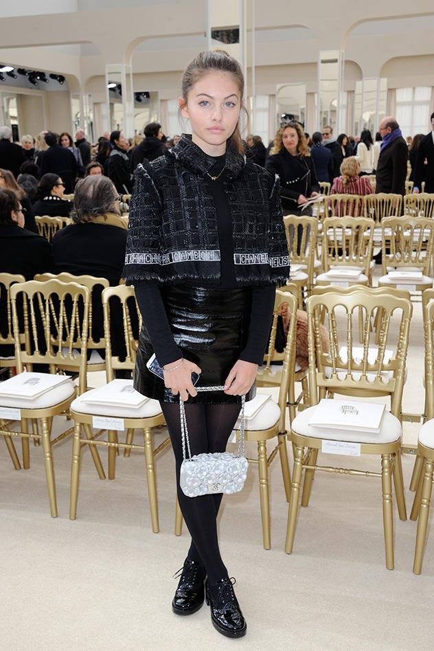 בתצוגת האופנה של שאנל (צילום: אינסטגרם  Thylane Blondeau)
