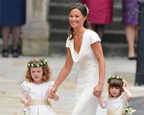 תמיד שושבינה: השמלה של פיפה מידלטון יוצאת למכירה בסייל