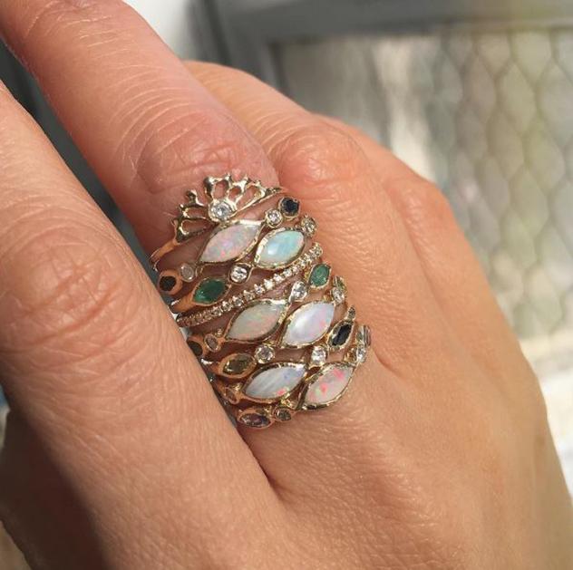 היישר מאל.איי. הטבעות של Misa Jewelry (צילום: אינסטגרם  misajewelry)