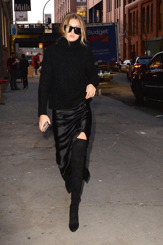 ג'יג'י חדיד לובשת נילי לוטן ועולם האופנה לא נשאר אדיש (צילום: splash news)