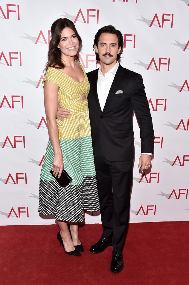 """מור עם בעלה ל""""חיים עצמם"""", מילו ונטימיליה (צילום: גטי אימג'ס)"""