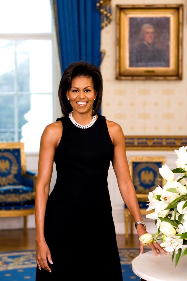 הדיוקן הרשמי של מישל אובמה. הכי שונה ממלניה שאפשר (צילום: הבית הלבן)