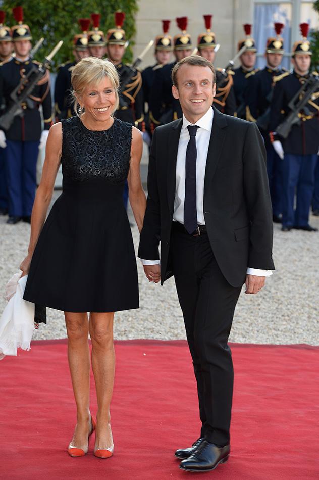 ויו לה פראנס! עמנואל מקרון ובריז'יט טרונו (צילום: Pascal Le Segretain/Getty Images)