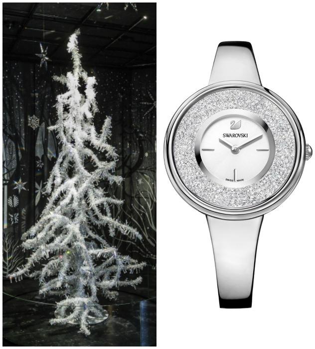 """מה משותף לעץ ולשעון שבתמונה? קריסטלים כמובן (צילום: יח""""צ)"""