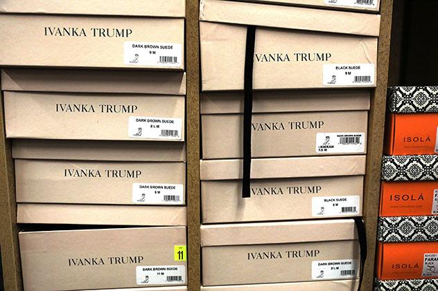 נעליים של המותג הנושא את שמה של טרמאפ (צילום: Spencer Platt/Getty Images)