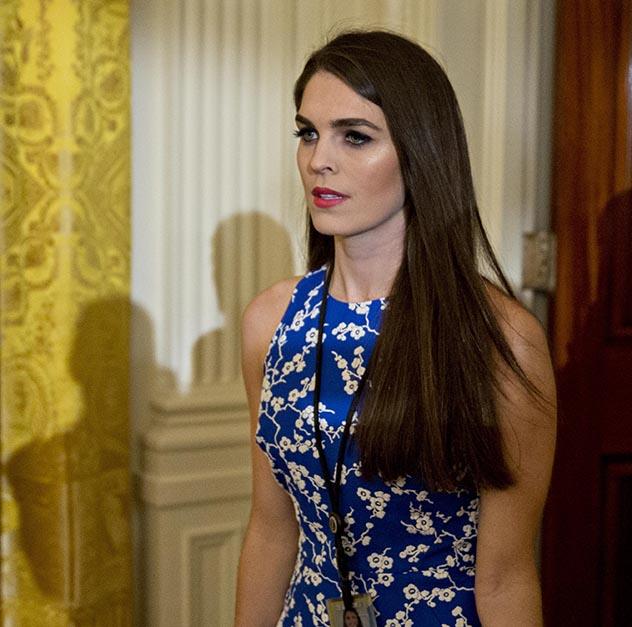 הופ היקס. יש דוגמנית בת 28 במערך התקשורת של טראמפ (צילום: Andrew Harrer-Pool/Getty Images)