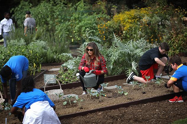 לא מפדחת מעבודת אדמה (צילום: (צילום: Win McNamee לגטי אימג'ס)