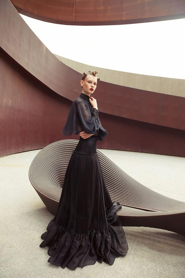 מעיצוביו של אביתר מאיור , שיציג לראשונה בשבוע האופנה הקרוב (צילום: דביר כחלון)