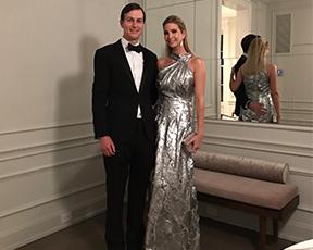איוונקה טראמפ מסתבכת עם שמלה כסופה שמעוררת סערה