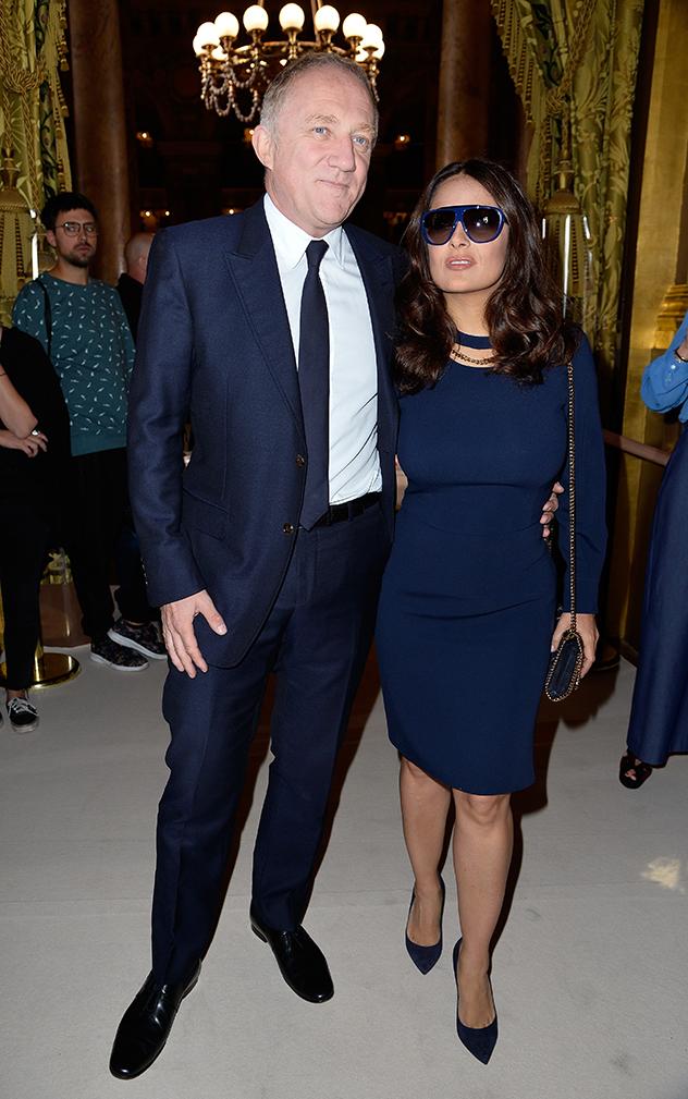 פרנסואה הנרי פינו ואשתו סלמה הייק (צילום: Pascal Le Segretain לגטי אימג'ס)