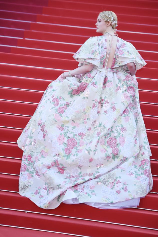 אל פאנינג בשמלה שצריך לראות מכל הכיוונים (צילום: Pascal LeSegretain; Getty Images)