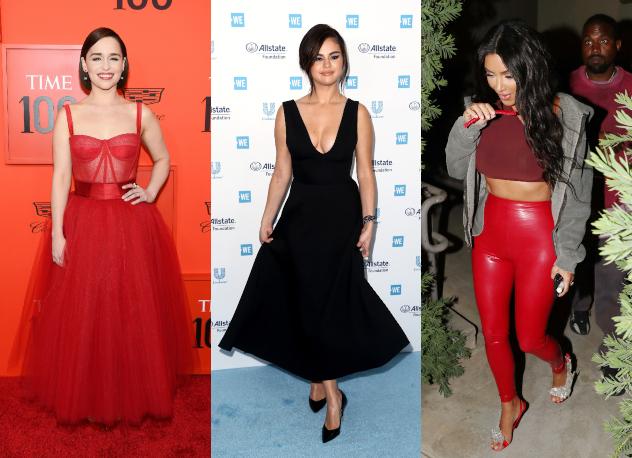 קים, סלינה ואמיליה. המתלבשות הטובות והרעות של השבוע (צילום: Splash News, Getty Images)