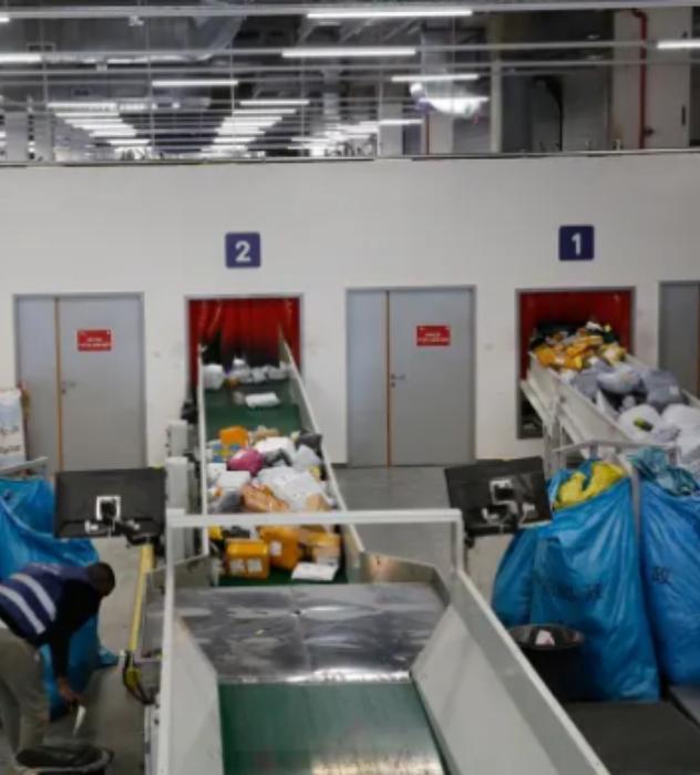 דואר ישראל, מרכז מיון לוגיסטי (צילום: גיל כהן מגן)