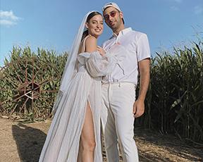 מייד אין שנקר: החתן עיצב לכלה את השמלה, והתוצאה מהממת