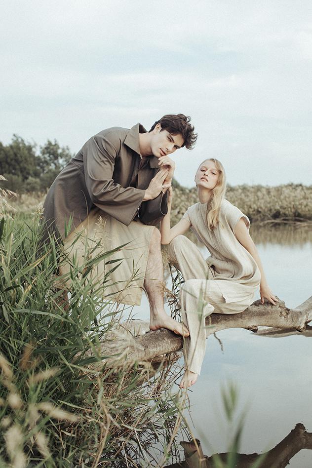 מריה ואלכס לובשים עדן שלום (צילום: רותם ברק)