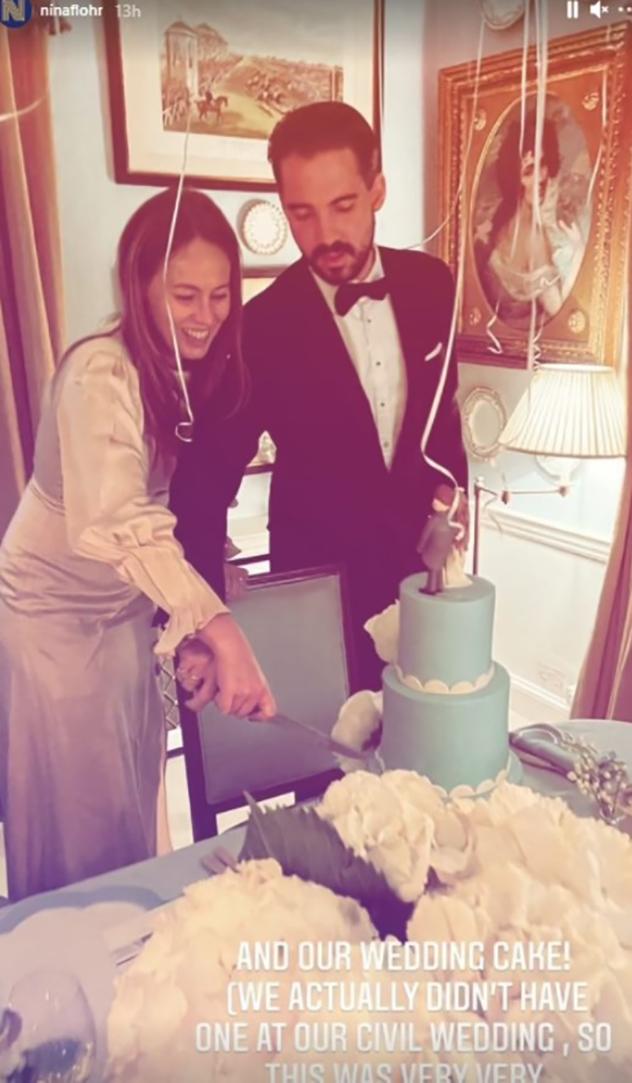 חתונה מלכותית עד הסוף (צילום: ninaflohr אינסטגרם)