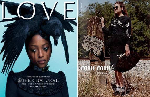 מגזין LOVE גליון 6, קמפיין סתיו 2011 מיו מיו