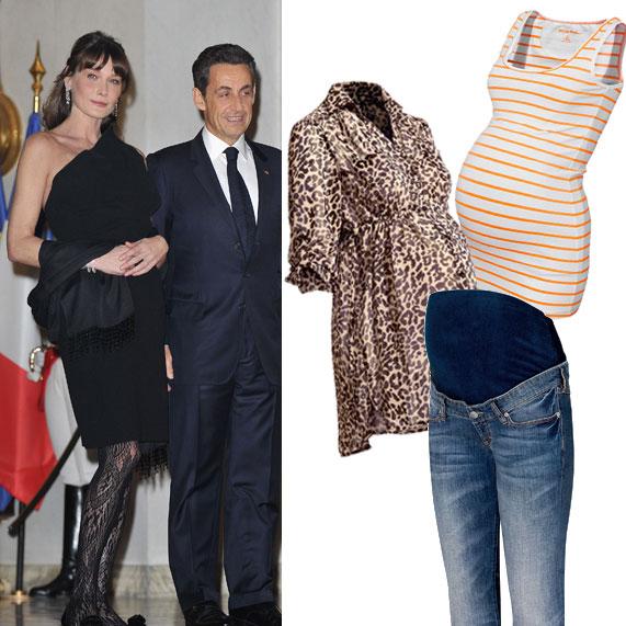 קרלה ברוני ובגדי הריון של H&M