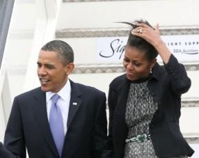 24.5.2011 | רק בגלל הרוח: השיער הפרוע של מישל אובמה