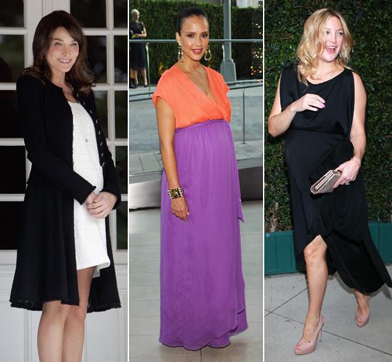 קייט הדסון, ג'סיקה אלבה וקרלה ברוני בהריון | צילומים: גטי אימג'ס